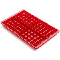 Forma de silicone para waffle Lékué vermelha 2 peças 500 ml - 25835 - Lekue