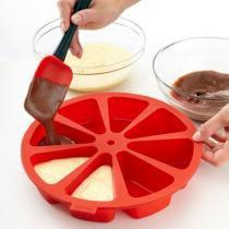 Forma para bolos em fatias 8 pedaços de silicone para pedaço indivudual - Keita