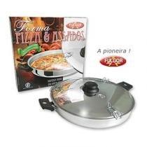Forma Para Pizza Alumínio Polida - Fulgor -