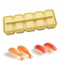 Forma para Sushi Niguiri Bolinho de Arroz com Cinco Cavidades Amarela  nihon shikko -