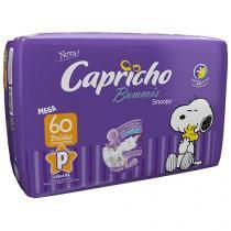 Fralda Capricho Bummis Snoopy Tam P 60 Unidades - Camada Interna Extra Suave com Aloe Vera