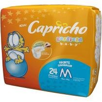 Fralda Capricho Garfield Baby Tam M - 24 Unidades Tecnologia Respirável