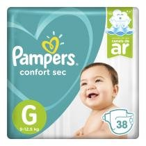 Fralda descartável pampers confort sec g 38 unidades -