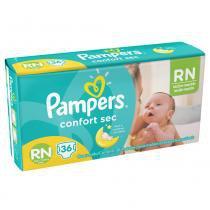 Fralda descartável pampers confort sec rn 36 unidades -