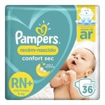 Fralda Descartável Pampers Confort Sec RN 36 Unidades - PAMPERS
