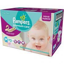 Fralda Descartável Pampers Premium Care M 72 Unidades - PAMPERS