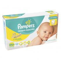 Fralda descartável pampers recém-nascido 3-6kg 38 unidades -