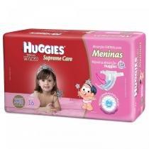 Fralda descartável turma da mônica huggies supreme care feminina xxg 16 unidades -