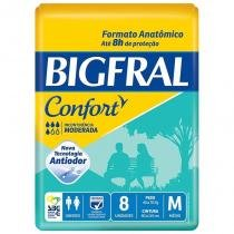 Fralda Geriátrica Bigfral Confort M Com 8 Unidades -