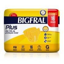 Fralda geriátrica bigfral plus embalagem econômica g 16 unidades - Cremer