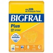 Fralda Geriátrica Bigfral Plus G Com 8 Unidades -