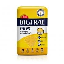 Fralda geriátrica bigfral plus grande 8 unidade -