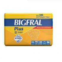 Fralda geriatrica bigfral plus m 4 pct.c/18 cxf -