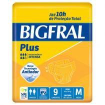 Fralda geriatrica bigfral plus m c/9 -