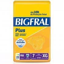 Fralda geriatrica bigfral plus xg 8 pct. c/7 cxf -