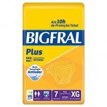 Fralda Geriátrica Bigfral Plus XG Com 7 Unidades -