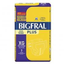 Fralda Geriátrica Bigfral Pom Pom Tamanho XG Kit 112 Fraldas -