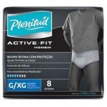 Fralda geriátrica plenitud active fit homem xg 8 unidades - Plenitud