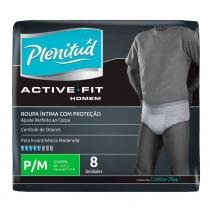 Fralda geriátrica plenitud active fit masculina tamanho p/m - 8 unidades - Kimberly-clark kenko