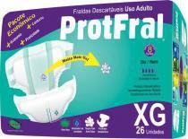 Fralda geriatrica protfral xg c/26 -