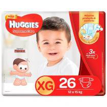 Fralda huggies supreme care xg c/26 -