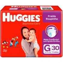 Fralda Huggies Turma da Mônica Supreme Care - Roupinha Tam. G 9 a 12,5kg 30 Unidades
