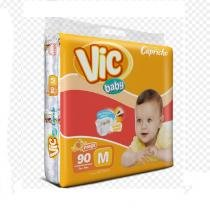 Fralda infantil descartavel vic baby m c/90 - Capricho