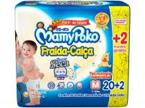 Fralda MamyPoko Calça Tam. M  - 7 a 10kg 22 Unidades