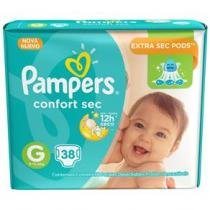 Fralda pampers confort sec g c/38 - Pampers