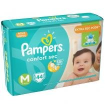 Fralda pampers confort sec m c/44 - Pampers