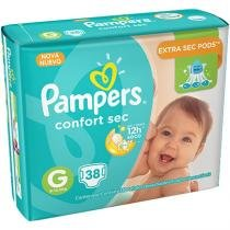 Fralda pampers confort sec m com 38 tiras - Pampers