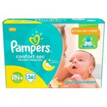 Fralda pampers confort sec rn c/36 - Pampers
