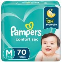 Fralda Pampers Confort Sec Tam. M  - 6 a 10kg 70 Unidades