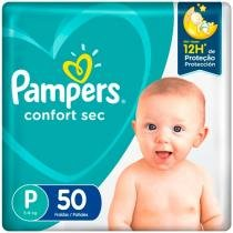 Fralda Pampers Confort Sec Tam. P  - 5 a 8kg 50 Unidades