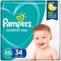 Fralda Pampers Confort Sec Tam. XG  - 11 a 15kg 34 Unidades