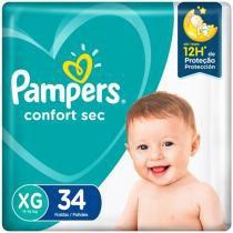 Fralda Pampers Confort Sec Tam. XG 34 Unidades - Extra Sec Pods
