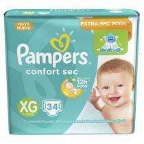 Fralda Pampers Confort Sec XG 34 Unidades -