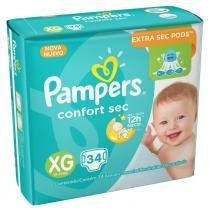 Fralda pampers confort sec xg c/34 - Pampers