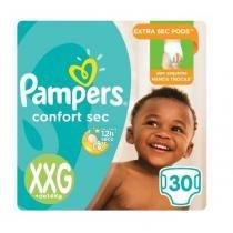 Fralda pampers confort sec xxg c/30 -