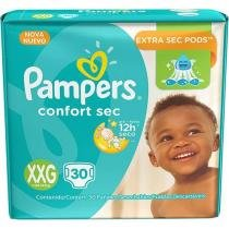 Fralda pampers confort sec xxg c/30 - Pampers