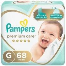 Fralda Pampers Premium Care G - 68 Unidades