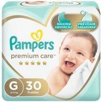 Fralda Pampers Premium Care G - 9 a 13kg 30 Unidades