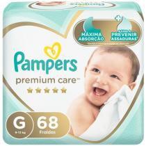 Fralda Pampers Premium Care G - 9 a 13kg 68 Unidades