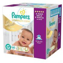 Fralda Pampers Premium Care G com 68 Unidades -
