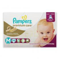 Fralda pampers premium care mega m com 48 tiras - Pampers