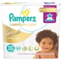 Fralda pampers premium care mega xxg com 32 tiras - Pampers