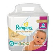 Fralda Pampers Premium Care Nova Tamanho G 68 Tiras -