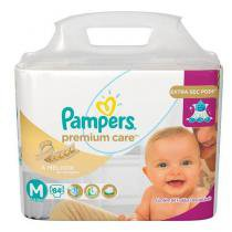 Fralda Pampers Premium Care Nova Tamanho M 84 Tiras -