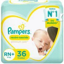 Fralda Pampers Premium Care RN+ - Até 6kg 36 Unidades