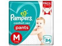 Fraldas Calça Pampers Pants Confort Sec Tam. M - 6 a 11kg 84 Unidades